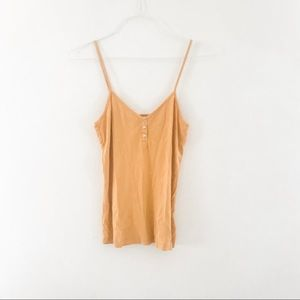 FRENCH CONNECTION: golden cotton  tank